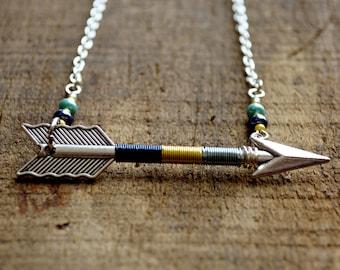 Arrow Necklace, Arrow Jewelry, Archery Necklace, Archery Jewelry, Arrow, Silver Arrow - Lakeside Arrow Necklace (Silver)