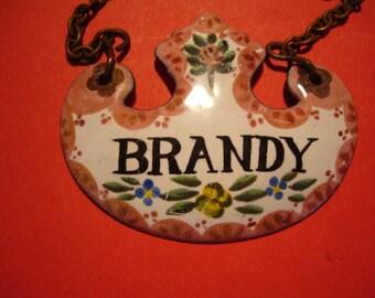 Hand Painted Enamel Wine Label Circa 1900