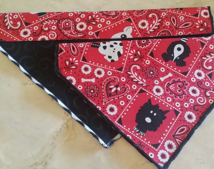 PET BANDANAS-Dog n' Cat-Red, White n' Black Pooches