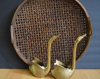 beautiful woven rattan tray / wall hanging