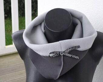 snood neck scarf grey fleece scarf designer woman linen ' eva