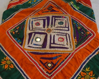 Vintage Style Handbag Handmade Hand Embroidered Kutch Style Antique Sling Bag 11