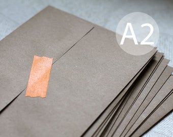 "25 A2 Kraft Brown Recycled Envelopes - Kraft RSVP - 4.375 x 5.75 inches (4 3/8"" x 5 3/4"")"