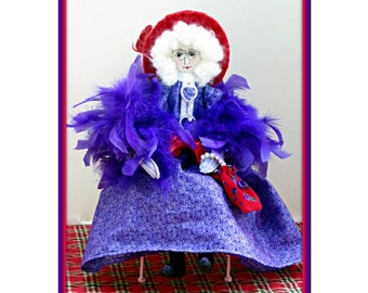 Celia - Art Doll Doll E-Pattern - Victorian Doll & Gray Is Beautiful Retirement Series