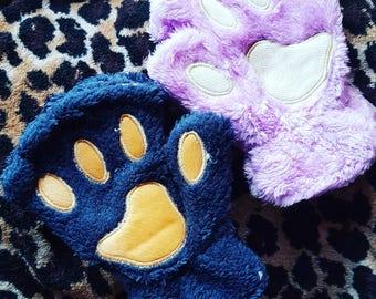 Fingerless kitty gloves, kawaii gloves, warm cute gloves, cat gloves, crazy cat lady