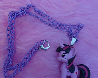My Little Pony figurine necklace