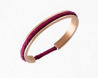 Yantra Paris - Venus - chic elastic Bracelet - woman - pink gold color - holder for elastic hair - stainless steel