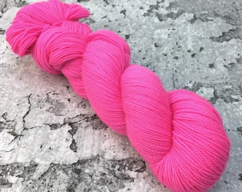HOT HOT PINK - 80/20 Merino Sock Hand-dyed Yarn