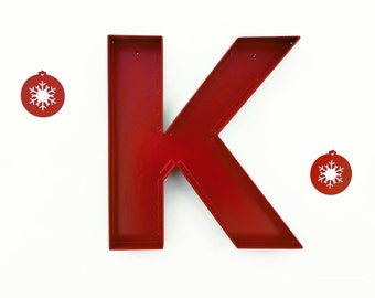 """Wall Letters K sign letter - """"K"""" Wall Decor / Metal Wall Letters / Letter 'K' Wall Art / Marquee Letters"""