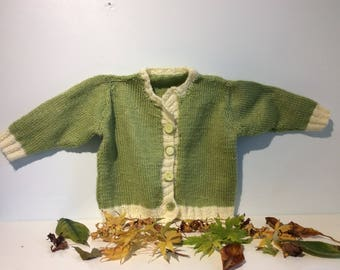 Green Cream Cardigan