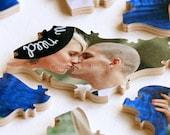 10-100 piece Wedding Guestbook Puzzle, guestbook alternative, wedding PHOTO puzzle guest book, Bella Puzzles™ modern wedding