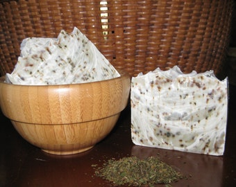 Tea Tree Peppermint Soap, All Natural Soap, Handmade Soap, Bar Soap, Cold process Soap, Homemade Soap, New Hampshire Soap, Bath Soap