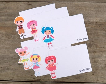 Lala Dolls - Set of 8 Assorted Lala Dolls Thank You Cards by The Birthday House