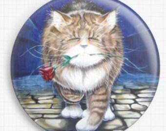 Needle Minder - Licensed Art By David Smith - Midnight Casanova Cross Stitch Keeper - Fridge Magnet
