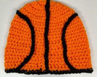 Basketball Hat - Handmade Hat - Crochet Hat - Winter Hat - Sports Hat - Crochet Basketball