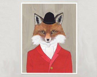 Art Print - Red Fox - Signed by Artist - 3 Sizes - S/M/L