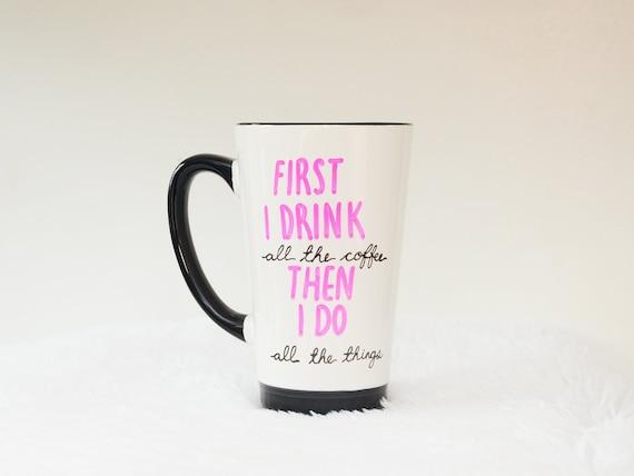 All The Things 16oz Tall Coffee Mug, Free Shipping