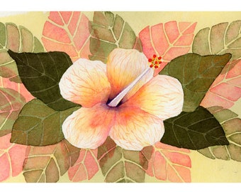 "5x7 Floral Greeting Card ""Hybiscus 1"""