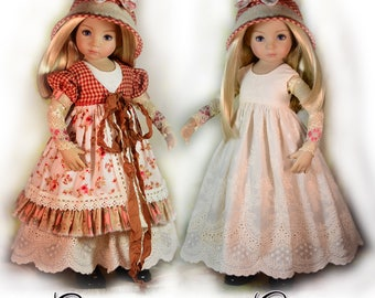 """PDF Doll Clothes Pattern. Fits 13"""" Dianna Effner Little Darling, My Meadow Avery, Iplehouse KID, Paola Reina Las Amigas by Luminaria Designs"""
