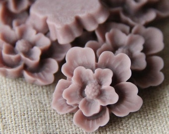 12 pcs of sakura flower cabochon-22mm-rc0166-9-dark lilac