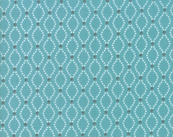 Nest Fabric by Lella Boutiquee for Moda, #5063-16, Pond, Dark Blue, Teal, Dark Turquoise Blue - IN STOCK