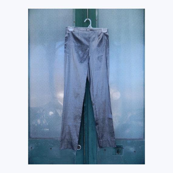 Staples Taffeta Narrow Leg Pant 4/12/16 Gunmetal Gray NWT
