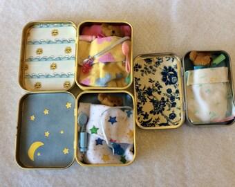 Altoid Tin Play Set Toy - Teddy Bear Baby Set