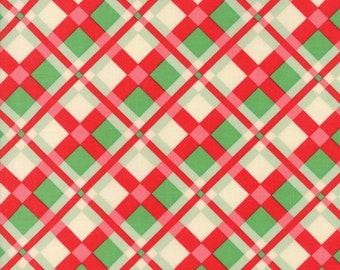 Wellengang Weihnachten von Urban Küken - Karomuster in rot