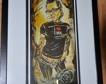 JEREMY WORST I love Ink Sexy Tattoo Girl Original Artwork Signed Print
