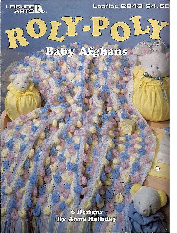 Pummel Baby Afghanen häkeln Muster Buch Leisure Arts Leaflet