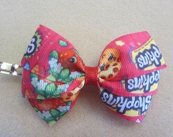 Medium Shopkins Pinwheel Hair Bow