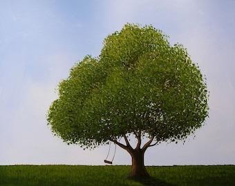 Tree art print ... Last Summer -- 8 x 10 Glossy Print, from my original painting