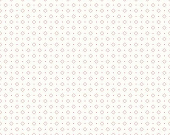 Bee Backgrounds By Lori Holt Diamond Coral (C6386-Coral)