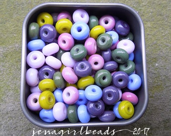 Enchanted Forest - Essential Mini Spacers Lampwork Beads - Made To Order