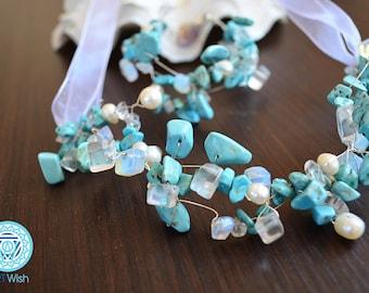 Handmade jewelry with Тurquoise and Moonstone
