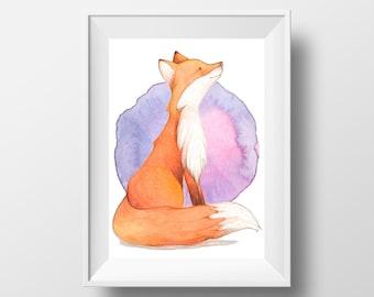Fox Print ~ Fox Children's Print ~ Print for Hanging ~ Child's Room Art