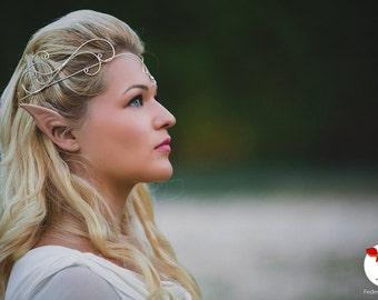 Galadriel Elven Tiara - Wire wrapped tiara - Wedding Tiara - Elven diadem - MAKE TO ORDER