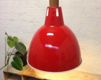 Industrial Red Lampshade
