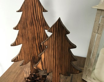 Wooden Pine Tree Cutout, Rustic Decor, Simple Home Decoration