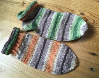 Sneakersocken, hand-knitted socks, size 39/40