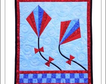 Flying Fan Kites Wall Quilt Pattern