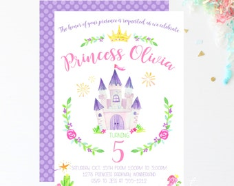 Princess Invitation | Princess Party | Princess Birthday | Birthday Invitation | Princess Invite | Princess | Princess Invitations