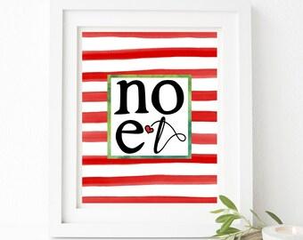 Noel Christmas Printable Wall Art 8x10, 5x7, 11x14, Holiday Printable, Christmas Printable Decor, Holiday Printable Decor