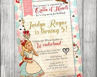 Alice in Wonderland Vintage Invitation