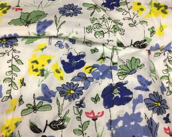 Indian Cotton Fabric by the yard, Floral Garden fabric, Ditsy floral print, Small scale floral print, Sewing fabric, Summer fashion fabric