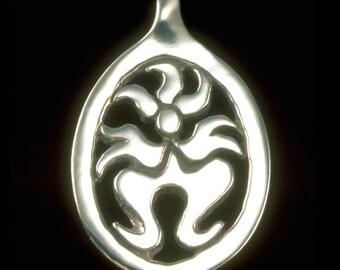 Kali Ma (Small) Pendant / Necklace, Hindu Goddess, Symbolic Jewelry, Sterling Silver