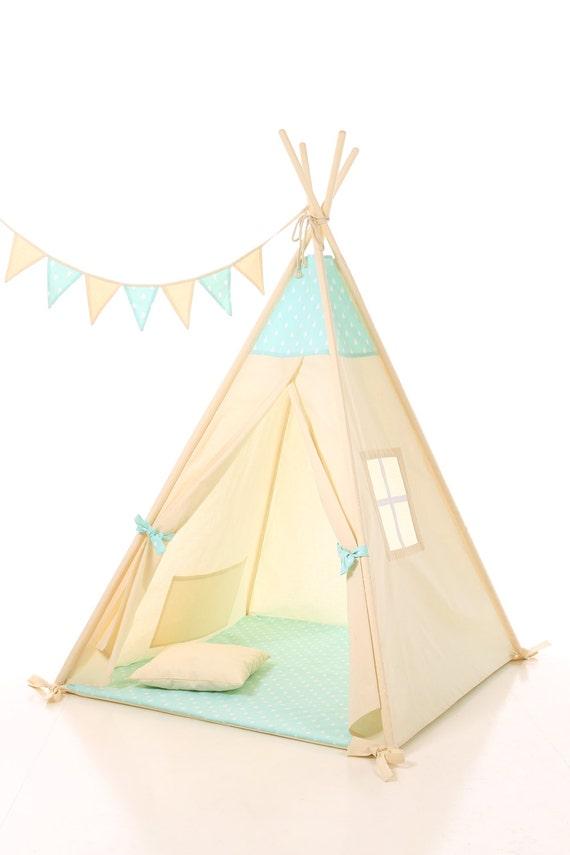 les enfants tipi tente tipi pour enfants int rieur en coton. Black Bedroom Furniture Sets. Home Design Ideas