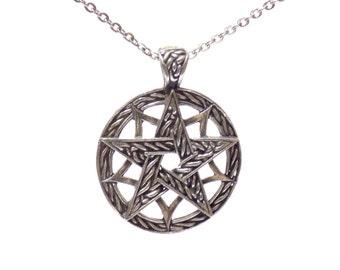 celtic pentagram necklace, birthday gift, pentagram necklace, pentagram pendant, celtic pendant, celtic pentagram, celtic necklace
