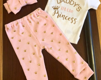 Baby Take Home Outfit, Baby Leggings Set, Personalized Bodysuit