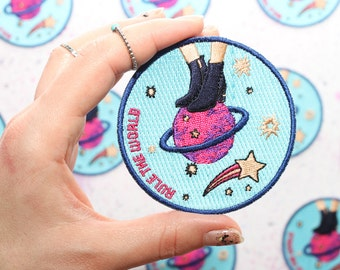 Cosmic Iron on Patch - Science Patch - Sew on Patch - Feminist Patch - Galaxy Iron on Patch - Planets Accessories - Girl Power